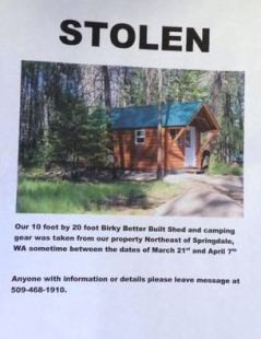 Stolen Tiny Cabin