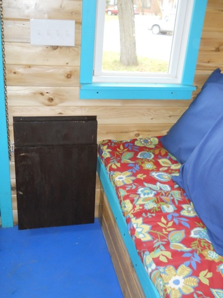 Jane's Solar Powered Tiny House with Composting Toilet, Food Storage and Bedroom (3)