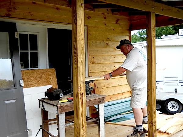 Old Table Saw used for Entire Trim Work for Cabin Project