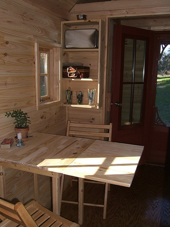 Living Area of the Tarleton Tiny House