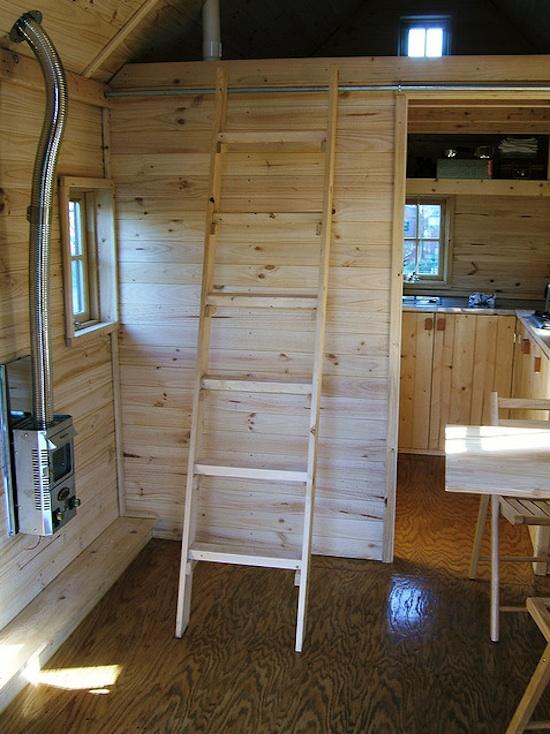 Tumbleweed Tarleton Tiny House -- Ladder to Loft