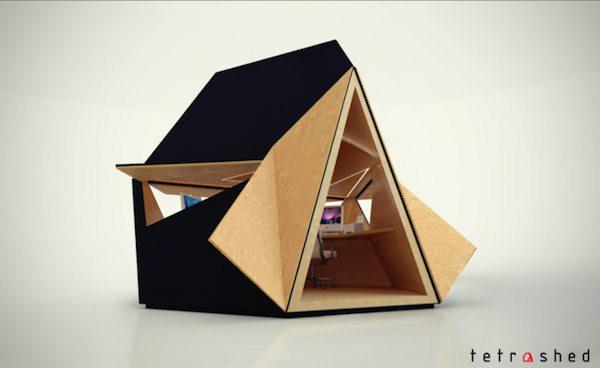 Tetra-Shed - Modular Building System - Backyard Office - Expandable
