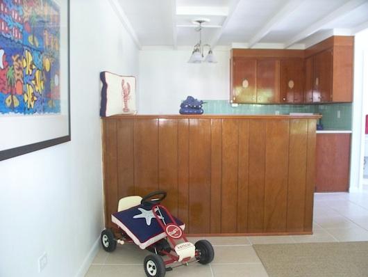View from front door - small apartment studio