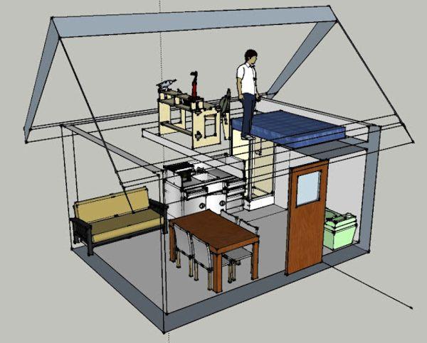 Off Grid Tiny Cabin Design