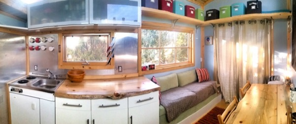 interior view of tiny home