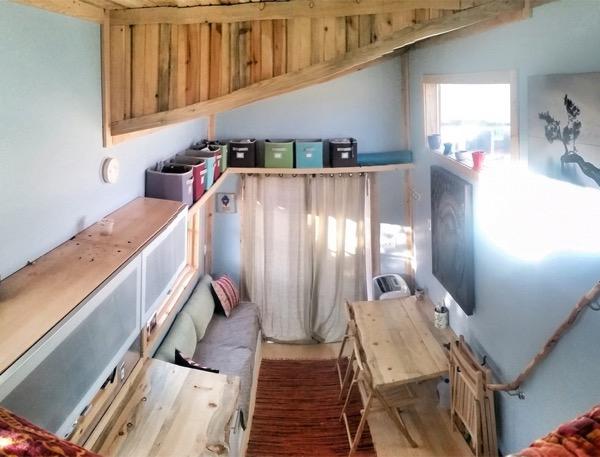 view from sleeping loft