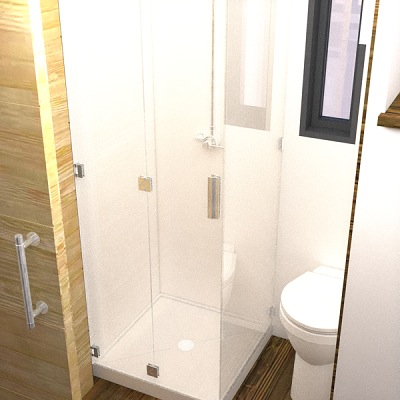Bathroom Shower in the Nook Tiny House