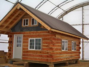 Tiny Log Cabin for Sale - Beam Style - Montana Mobile Cabins