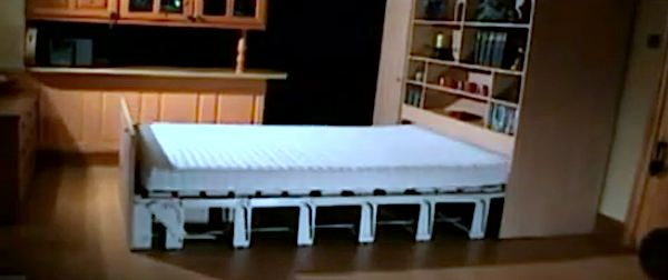 Modern Space Saving Bed for Multifunctional Spaces and Tiny Homes