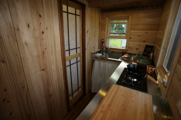 Kitchen in Walden Tiny House