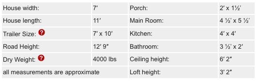 Tumbleweed Houses - XS House - Details