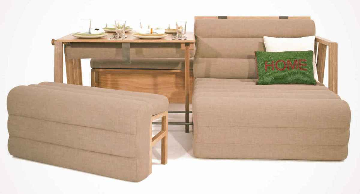 Tiny house furniture 3moods all in one furniture kit for Fitting furniture in a small room