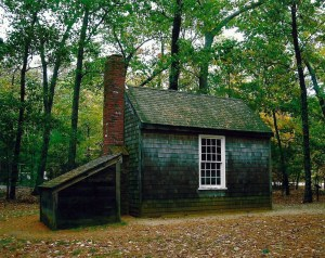 Thoreau's famous getaway in the Massachusetts woods.