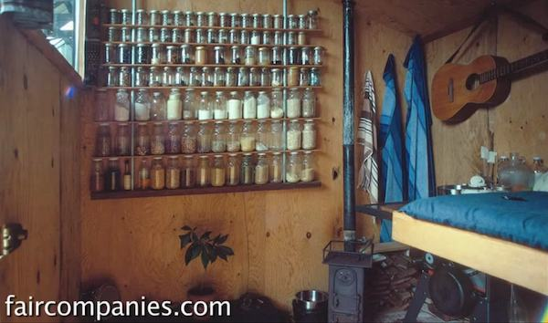 Wall Storage and Jars in Tiny House