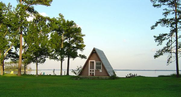 Waterfront A-Frame Tiny House