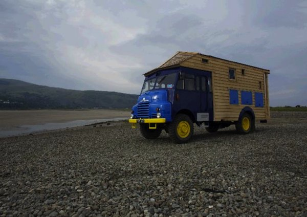 Wooden House-truck from 1954 Army Firetruck