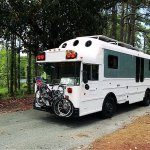 Family's School Bus Converted into Beautiful Off-Grid Motorhome