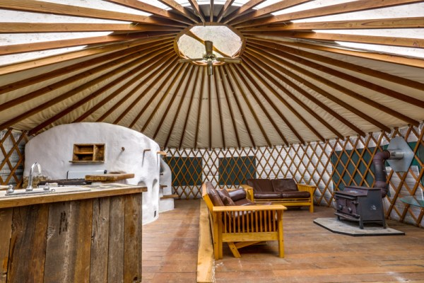 Deep Creek Yurt Interior