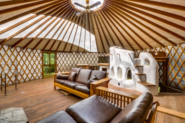 Deep Creek Yurt with cob wall