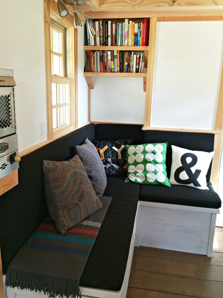 Our cozy sitting lounge (with storage underneath).