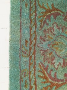 Rug overdyed with RIT dye