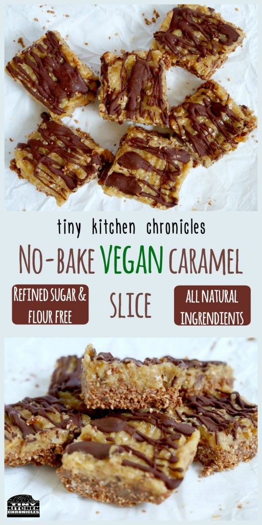 vegancaramelslice_collage