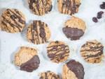 vegan cranberry dark choc cookies