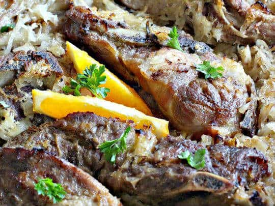 Baked-Ribs-and-Sauerkraut