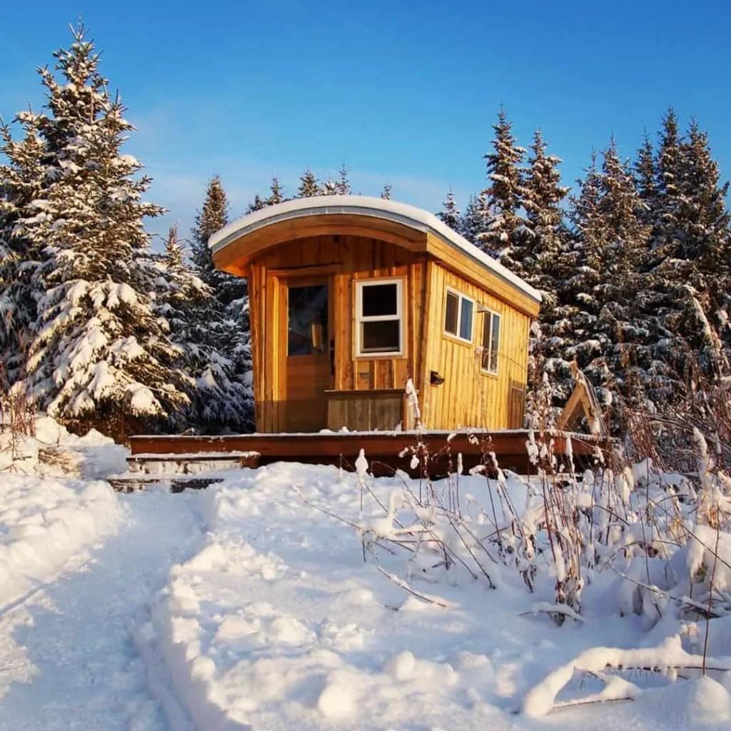 off grid tiny home in Alaska