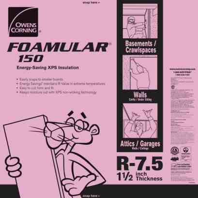 XPS rigid foam insulation