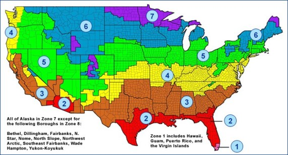 Insulation Climate Zones Map