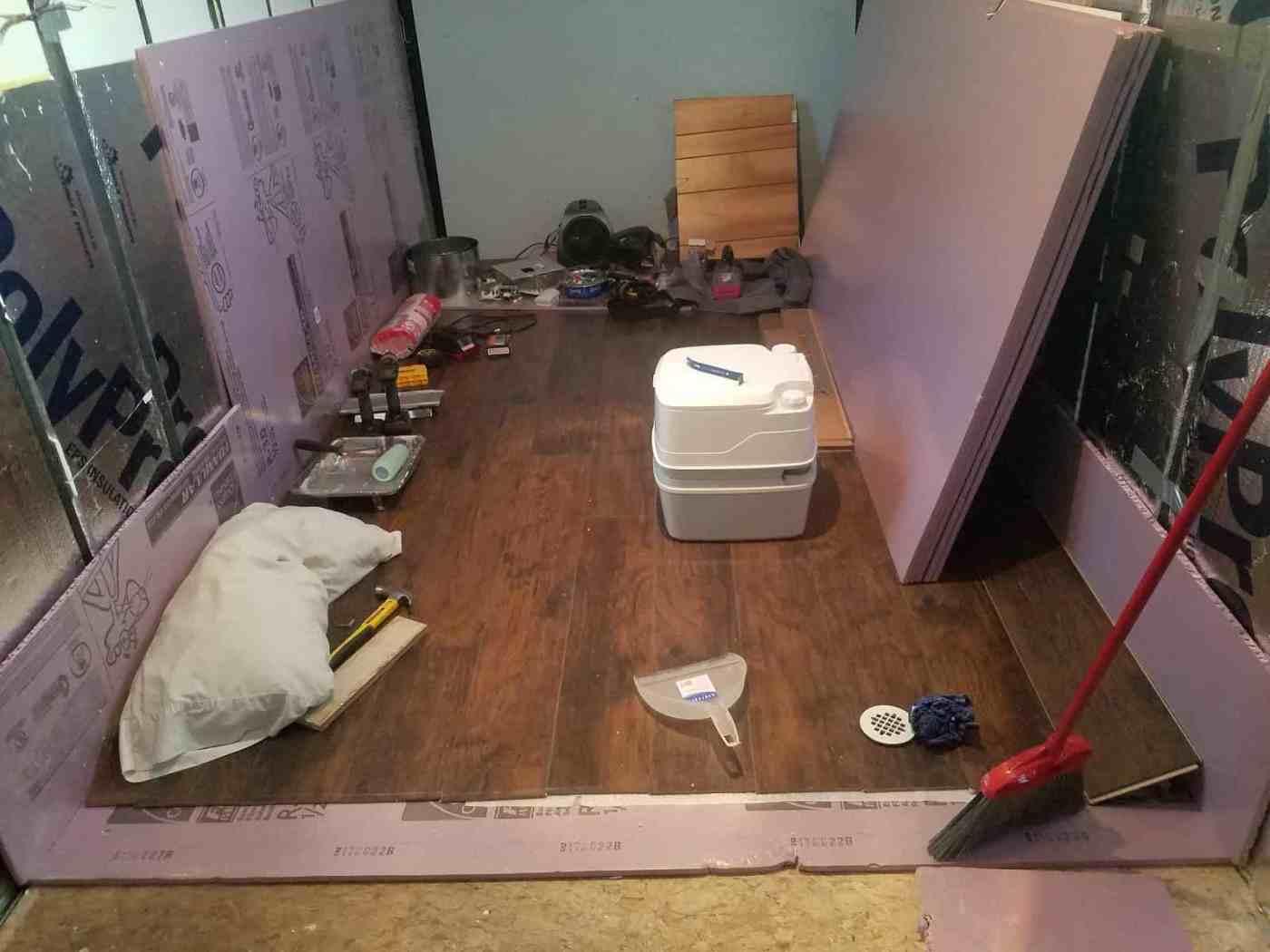 tiny home tailor insulation setup