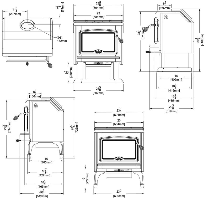 Osburn 1100 wood stove