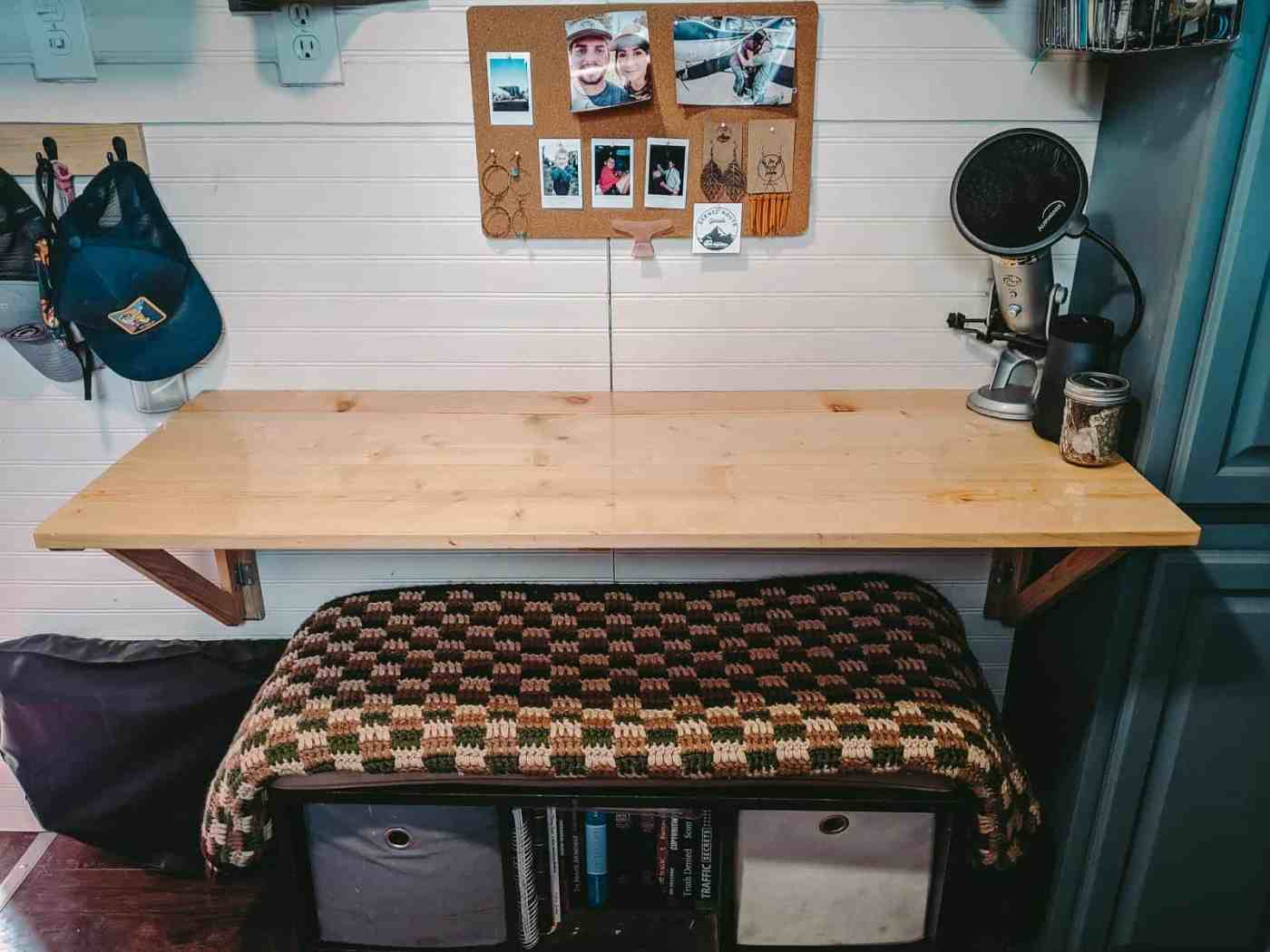 cargo home tiny home table