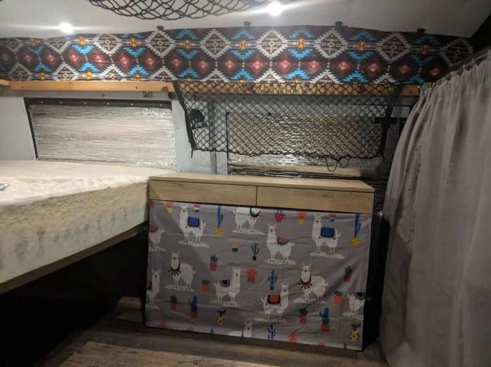 simple campervan setup