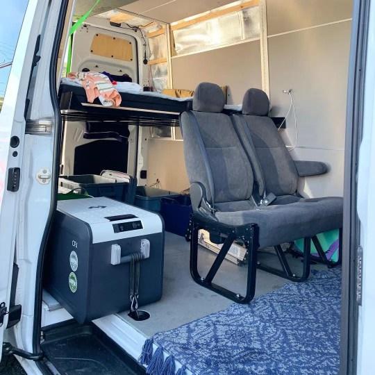 Dometic CFX3 adjustable in van