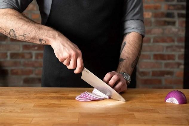 "Babish 8"" German Steel, Chef Knife, Stainless Steel"