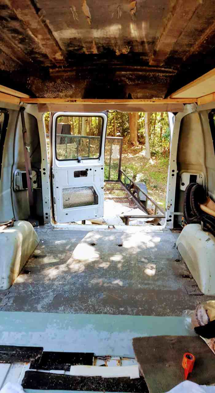 The Stripped Out Interior Of My Van