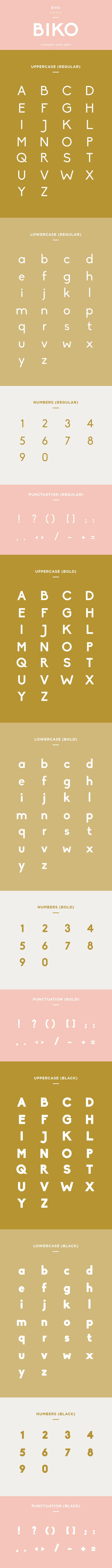 biko font example