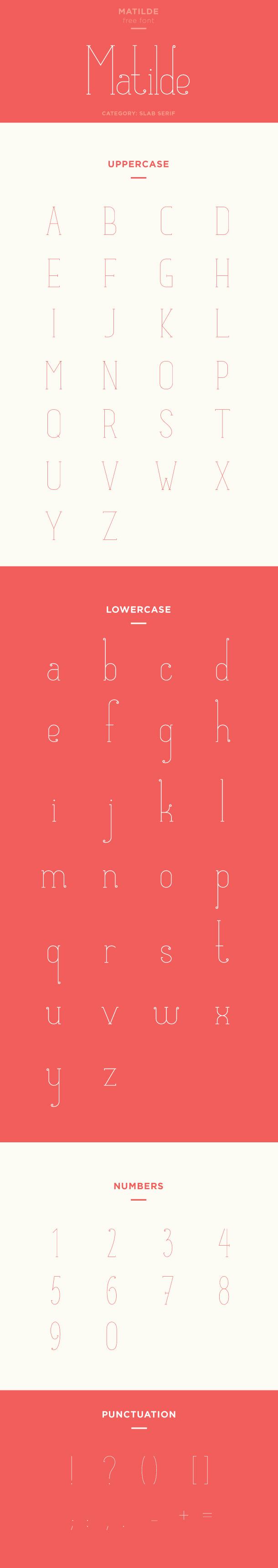 matilde font example