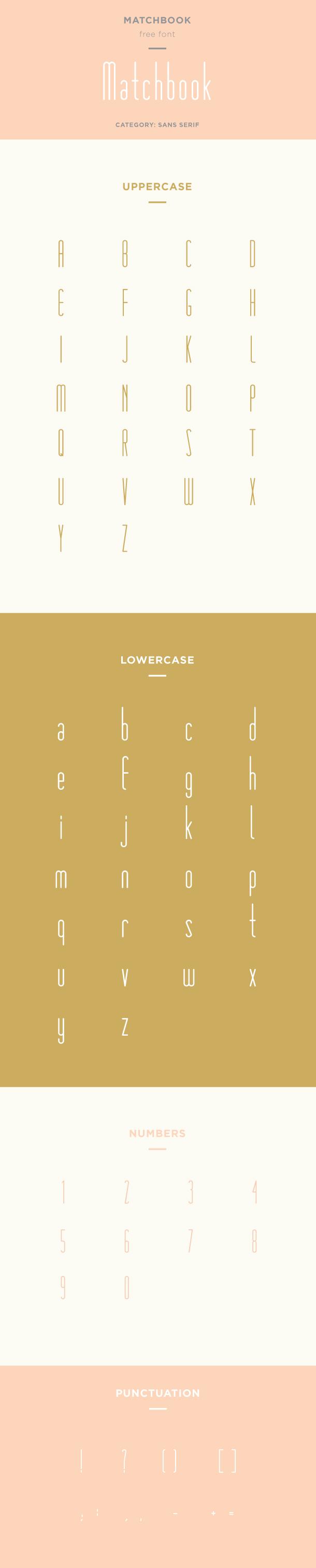 matchbook font example