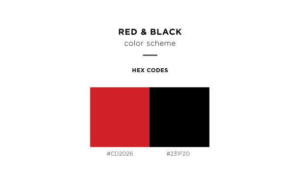 red and black color scheme