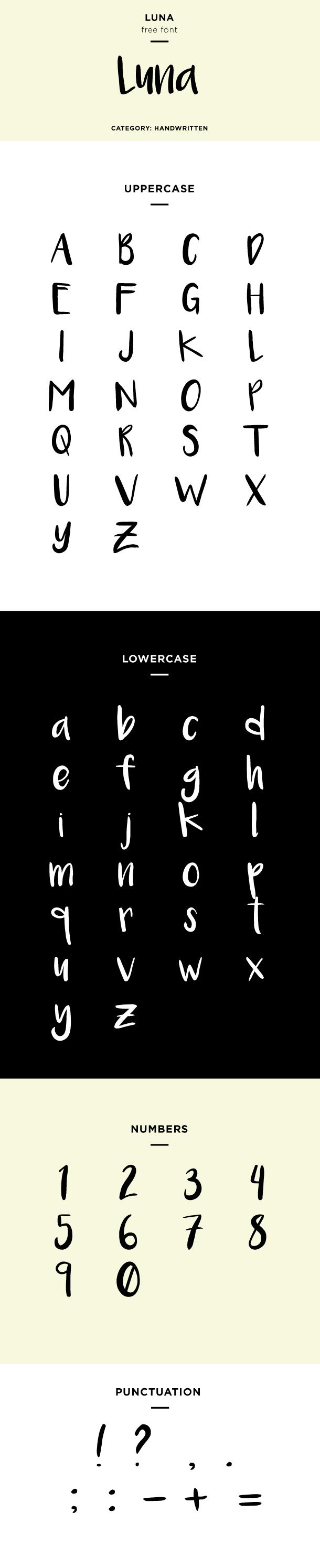 luna font example