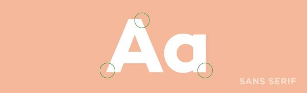 sans serif font example.