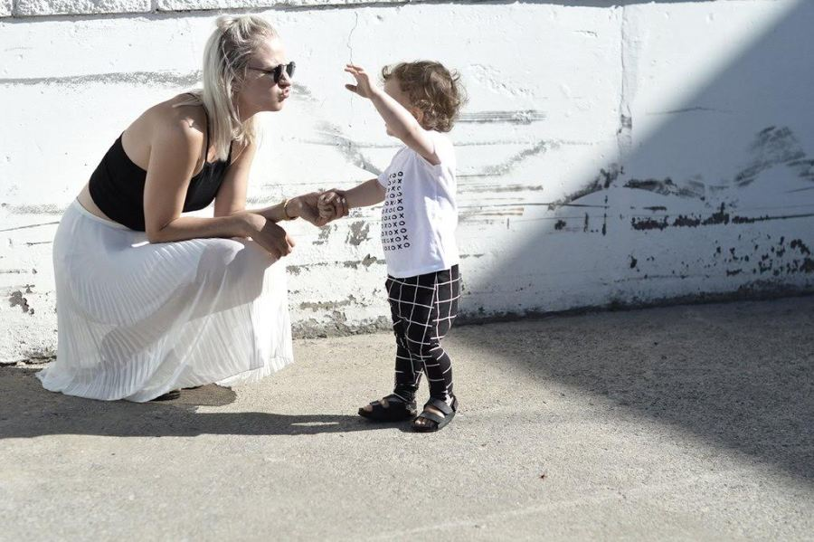 The modern mom and her monochrome love for her babe