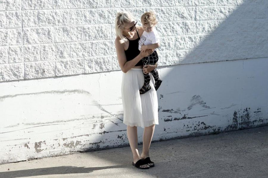 Monochrome fashion for mama and babe at TinyLoveDesign.com