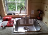 Kitchen sink and faucet in place!