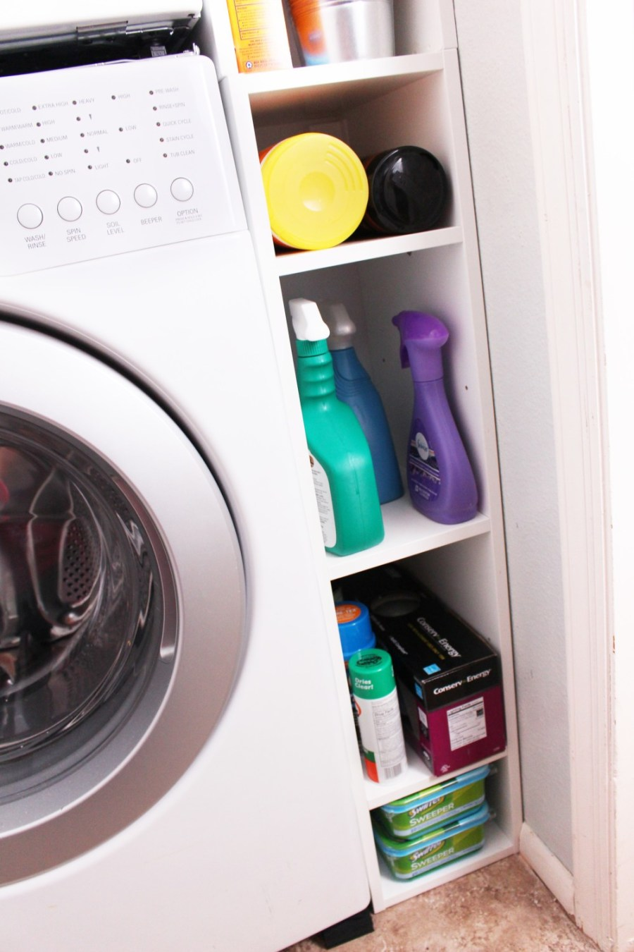 Washer Side Storage - Storage Solutions For Small Spaces