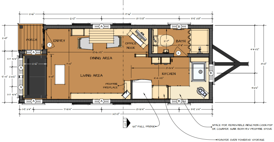 Tiny homes floor plans tiny house floor plans with lower for Small house plans that live large