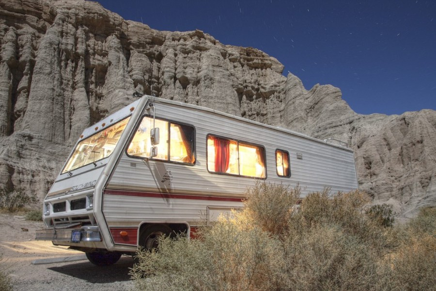RV at Redrock Canyon State Park